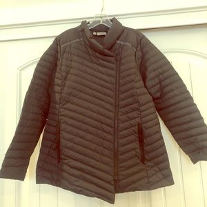 Athleta down asymmetrical zip jacket.